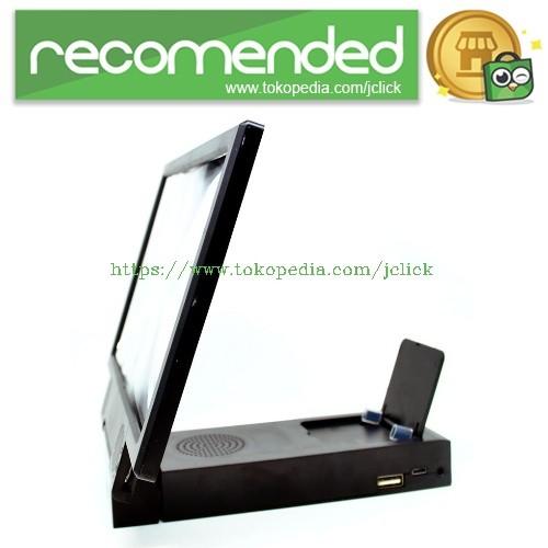 harga Enlarge screen magnifier bracket stand 3d with speaker for smartphone Tokopedia.com