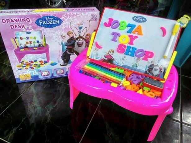 harga Mainan Anak Papan Tulis 5980fz Drawing Desk Frozen Impor Toys Wanita Tokopedia.com