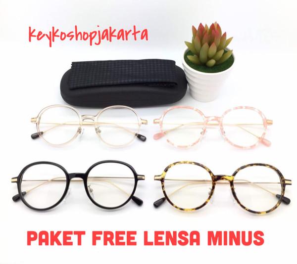 Free lensa minus - frame kacamata pria wanita round vintage 2222 ef48c9d38c