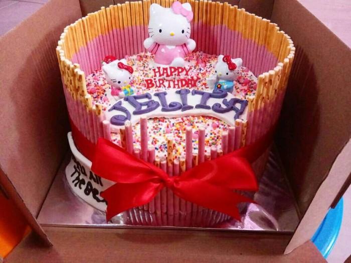 Jual Kue Ulang Tahun Tema Hello Kitty Kab Tangerang Rumah Kue Feeza Tokopedia