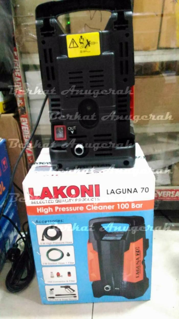 Lakoni High Pressure Mesin Cuci Steam Jet Cleaner Laguna 70 Orange Semprot Mobil Motor Ac