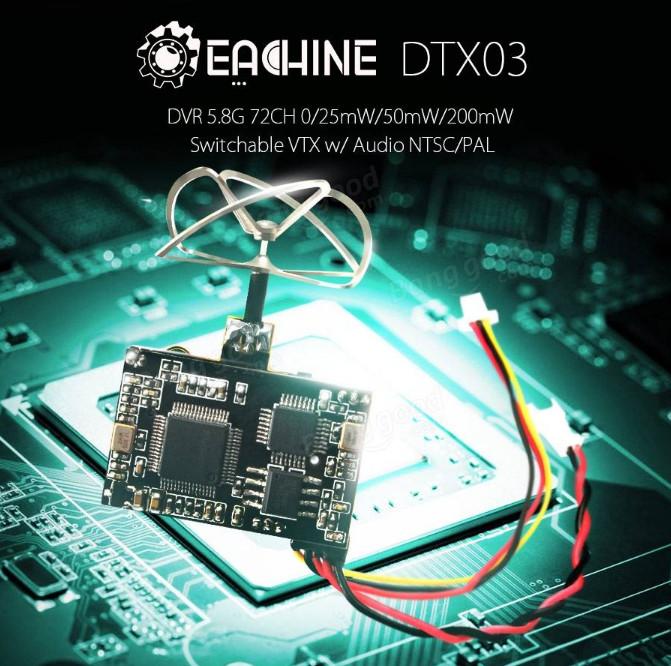 Foto Produk Eachine DTX03 DVR 5.8G 72CH VTX w/ Audio dari IndoWebstorecom