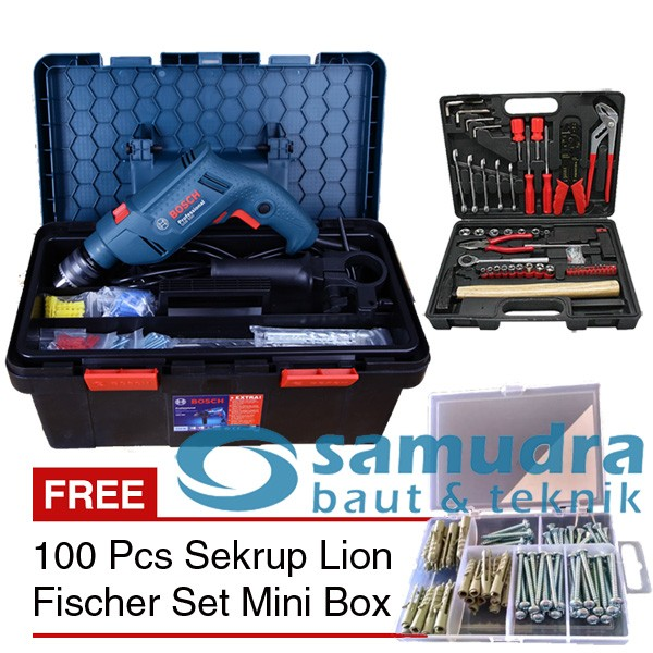 harga Bosch bor listrik gsb 550 freedom & tool kit kenmaster & mk 01 Tokopedia.com