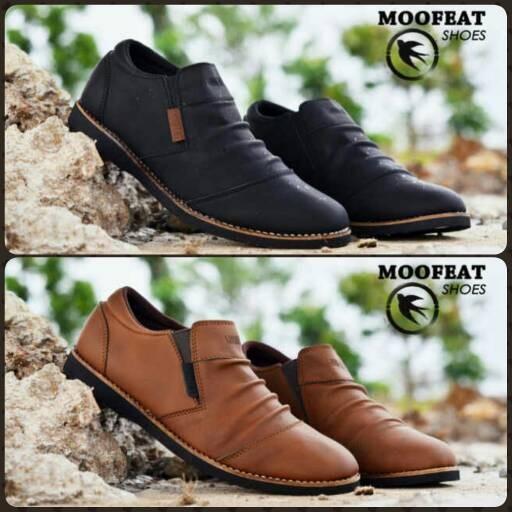 harga Sepatu slip on casual kulit pria / sepatu slop kulit moofeat murah Tokopedia.com