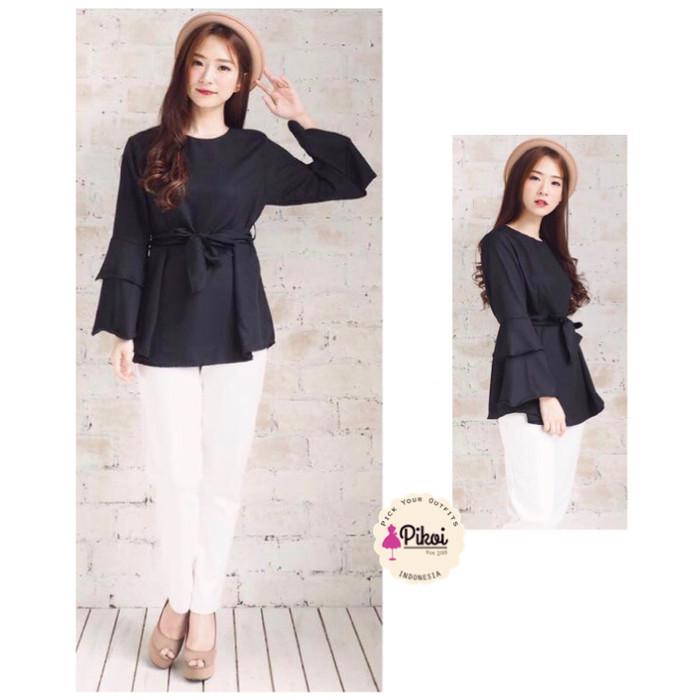 harga 668 blouse lengan panjang / baju lengan peplum / baju lebaran murah Tokopedia.com