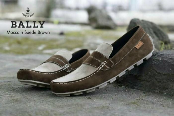 harga Free bonus !!! sepatu murah casual bally slipon kulit suede Tokopedia.com