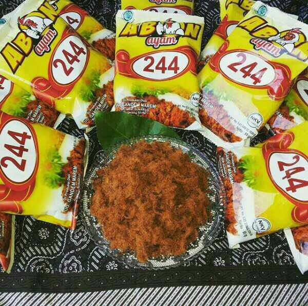 harga Abon ayam cap 244 asli daging ayam tanpa campuran Tokopedia.com