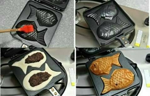 harga Cetakan loyang teflon waffle ikan Tokopedia.com
