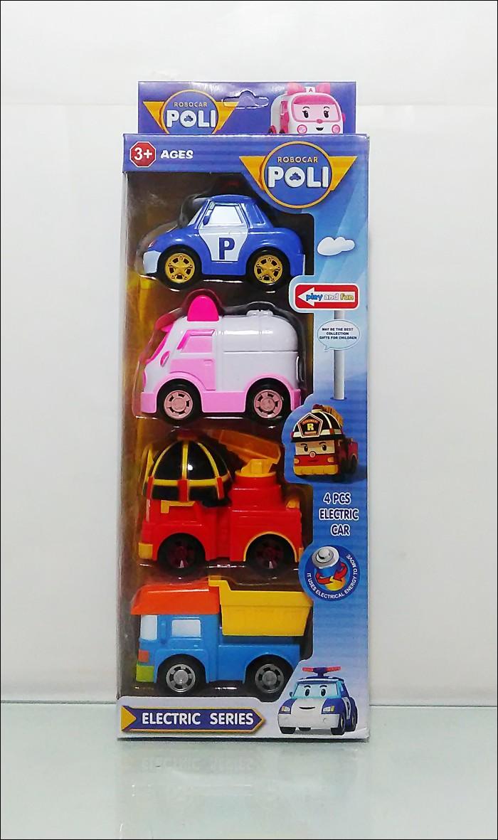 Jual Mainan Robocar Poli Electrical Car Set 4 Mobil Bisa 1 Berjalan