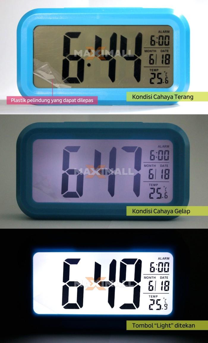 Jual Smart Digital Desktop Clock Jam Meja Alarm Thermometer Led Wood Waker Weker Jk 808 Hitam