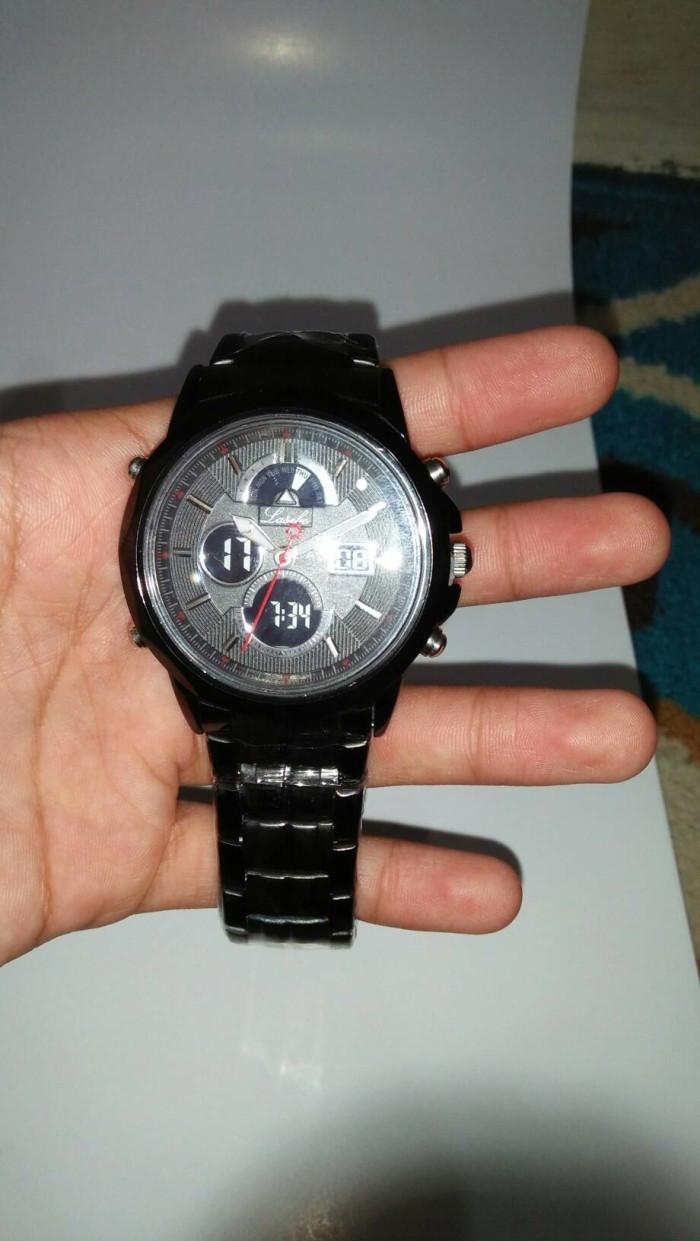 Jual Jam Tangan Lasebo Lsb 997 Dual Time Gegiashop Tokopedia Pria Stainless Steel 27717