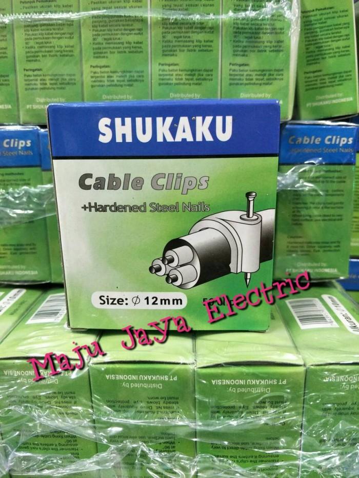 Foto Produk Klem Kabel Paku Beton 12mm Klen Kabel Cable Clips 12 mm dari Toko Maju Jaya Electric