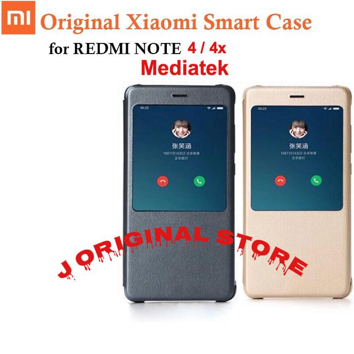 Original Flip Case Xiaomi Redmi Note 4 4x Mediatek
