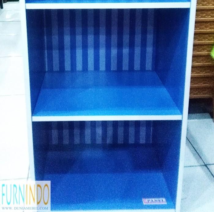 harga Rak buku serbaguna minimalis 2 susun panel warna Tokopedia.com