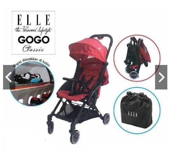 harga Elle gogo stroller classic ( red, blue, grey ) Tokopedia.com