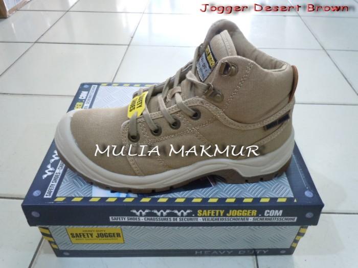 Foto Produk Sepatu Safety Jogger Desert S1P Brown (Coklat) dari Mulia Komputer