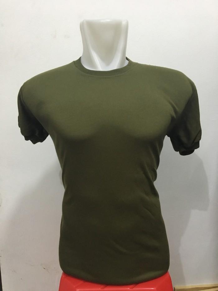 Kaos hijau polos - kaos polos - kaos lengan pendek