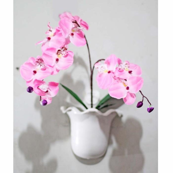 harga Buket bunga anggrek plastik artificial dekorasi dinding shabby 3 Tokopedia.com