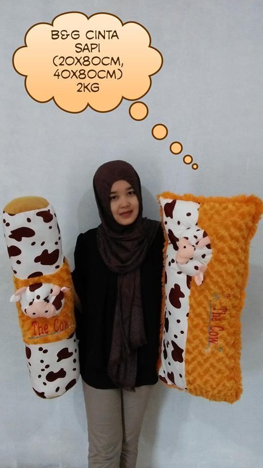 Foto Produk set bantal & guling cinta sapi dari NN BONEKAKU