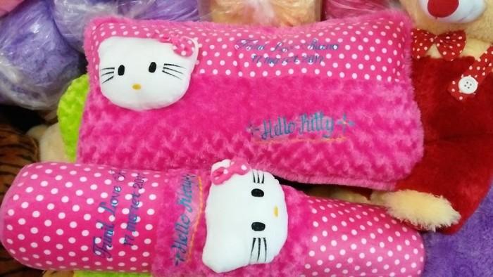 Foto Produk set bantal guling cinta hello kitty ukir nama dari NN BONEKAKU