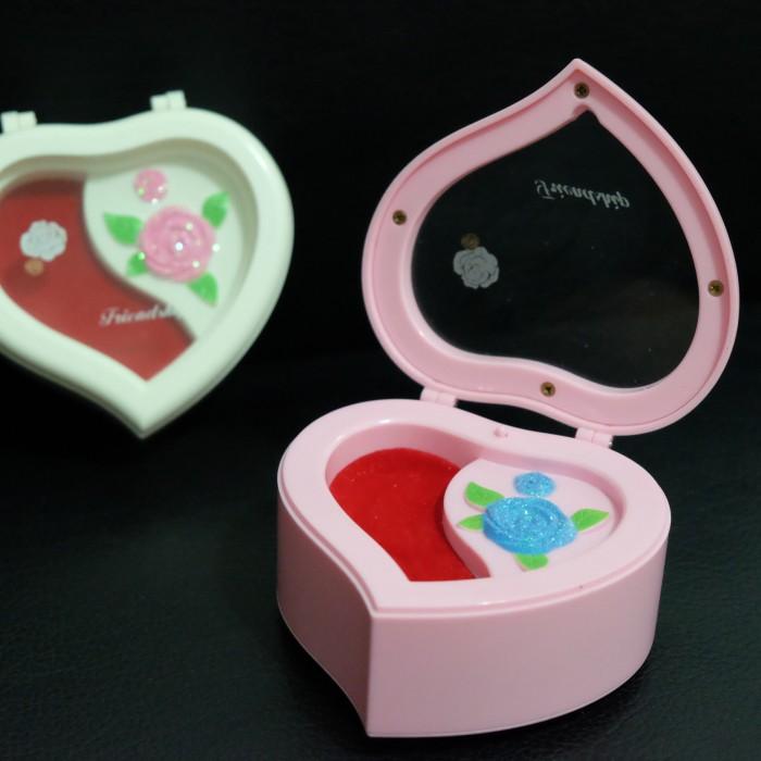 harga Music box kotak musik tempat perhiasan hati love pink putih Tokopedia.com
