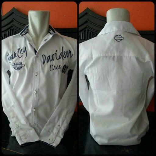 harga Kemeja Harley Davidson White Long Sleeve Tokopedia.com