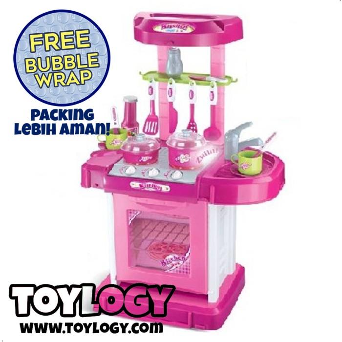 Mainan Anak Masak-Masakan - Kitchen Set Pink - Packing Koper - Bubble