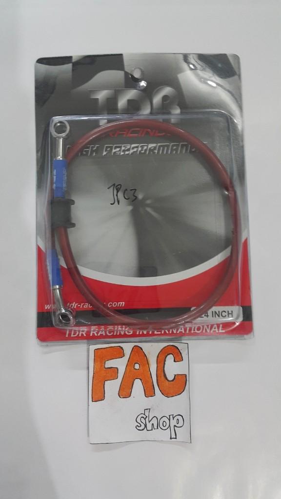 selang rem TDR racing 24inch merah