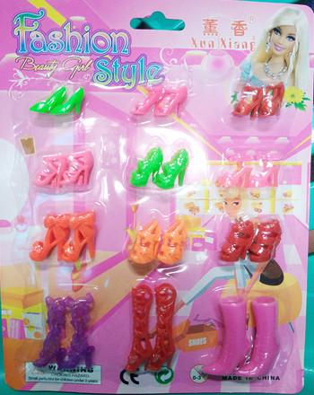 harga Mainan anak set aksesoris perlengkapan sepatu boneka barbie Tokopedia.com
