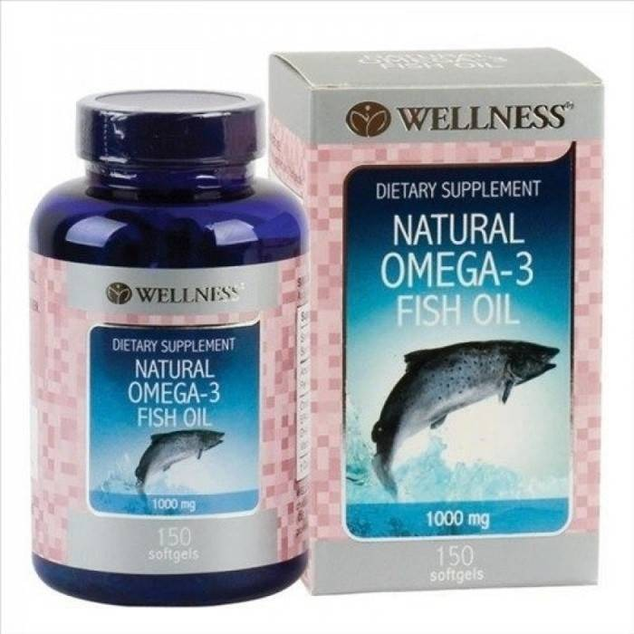 harga Wellness natural omega 3 fish oil 1000mg 150 kapsul Tokopedia.com
