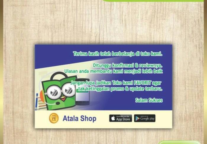 Jual Reminder Tokopedia/ Thanks Card/ Kartu Ucapan Online Shop ...