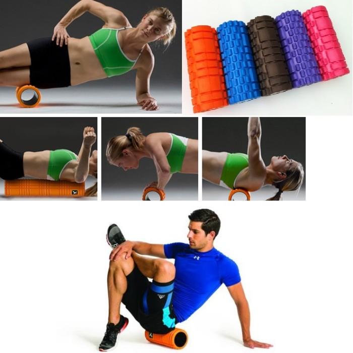 harga Foam roller /fitness / gym / senam / aerobic / yoga roller - merah Tokopedia.com