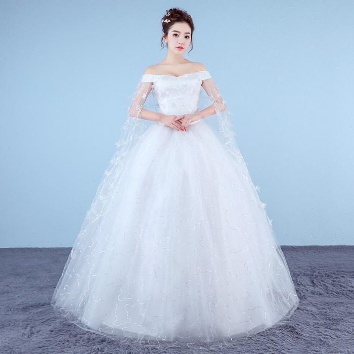 harga 1706034 putih sabrina gaun pengantin wedding gown wedding dress Tokopedia.com