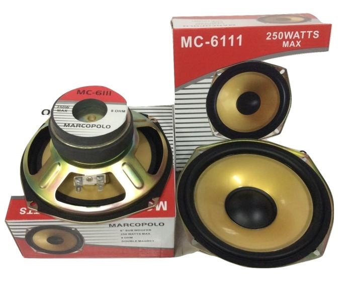 harga Speaker subwofer mc-6111 doble magnet 250 watts marcopolo 6 Tokopedia.com