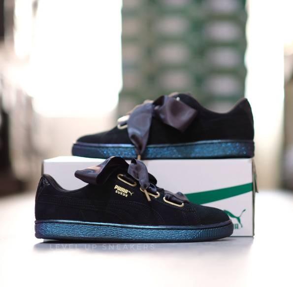 87de367cd596 Jual Puma Suede Heart Satin Black Sneaker - Jakarta Utara - Level Up ...