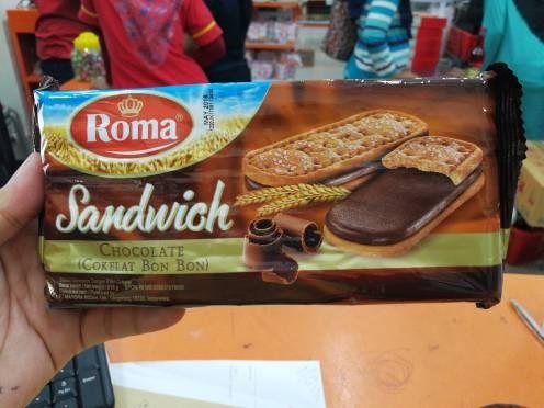Jual Roma Bon Bon 216gr Biskuit Sandwich Coklat Thio Online