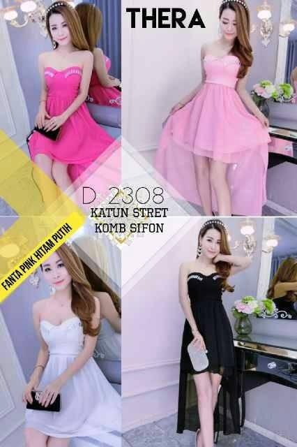 Midi Dress Pesta 9890 Putih Daftar Harga Terlengkap Indonesia Source · Dress pesta pink dress pesta ekor