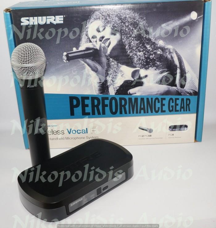 harga Mic wireless shure pg24e pg58/ wireless mic shure pg24e pg58 Tokopedia.com