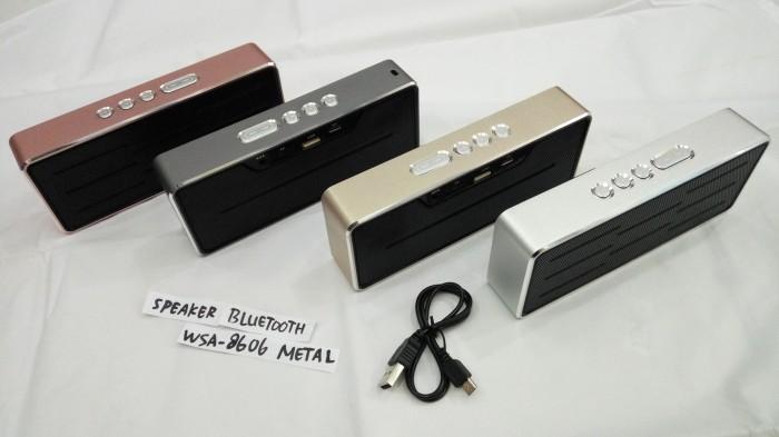 harga Speaker wireless bluetooth wsa - 8606 portable mobile Tokopedia.com