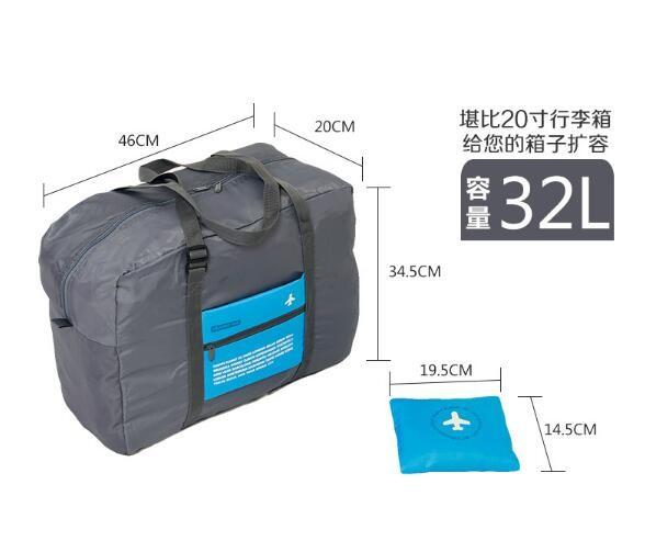 45 FOLDABLE TRAVEL BAG /HAND CARRY TAS LIPAT / KOPER LUGGAGE ORGANIZER