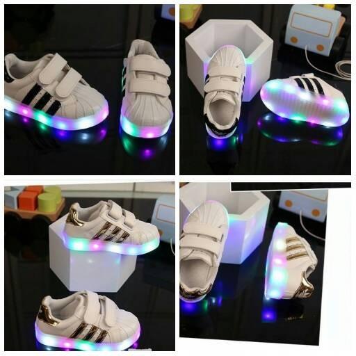 e499a16e636 Jual Murah Sepatu Led Anak Adidas Garis   Led Shoes Adidas Yeezy ...