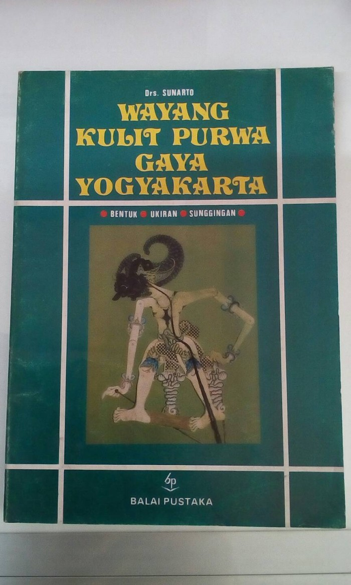 Jual Wayang Kulit Purwa Gaya Yogyakarta Drs Sunarto Kota Depok DELANI BOOKSTORE