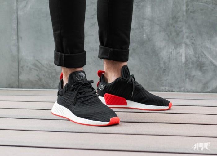 69fab0812b643 Jual sepatu adidas nmd r2 black red (bred- white red - white white ...