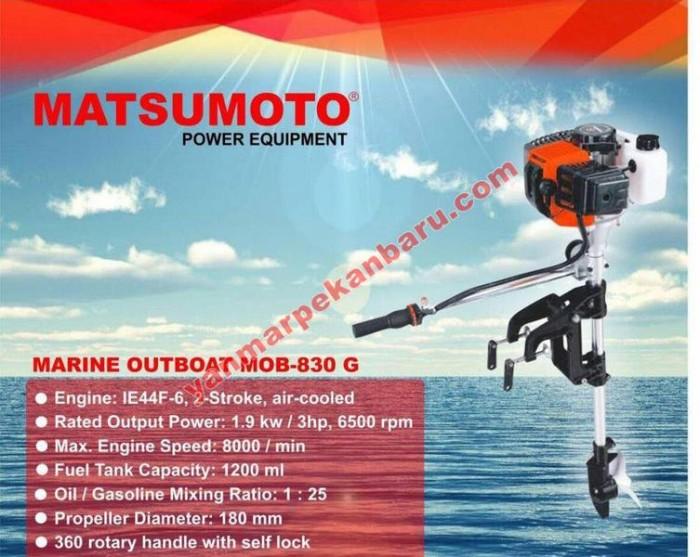 Foto Produk Mesin Speed Boat (Mesin Tempel) Outboard 3Pk / 3Hp Matsumoto MOB 830 G dari yanmarindo
