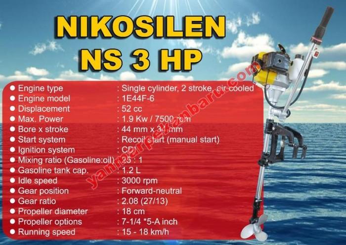 harga Mesin tempel outboard 3 pk nikosilen Tokopedia.com