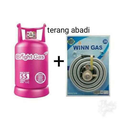 harga Tabung gas elpiji bright gas 55kg+isi+selang gas paket winn Tokopedia.com