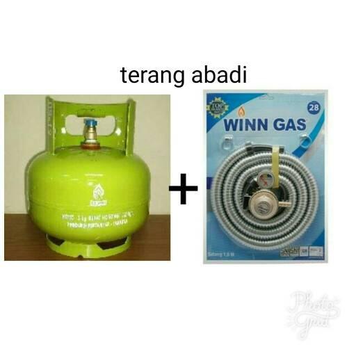 harga Tabung gas elpiji 3kg+isi+selang gas paket winn Tokopedia.com