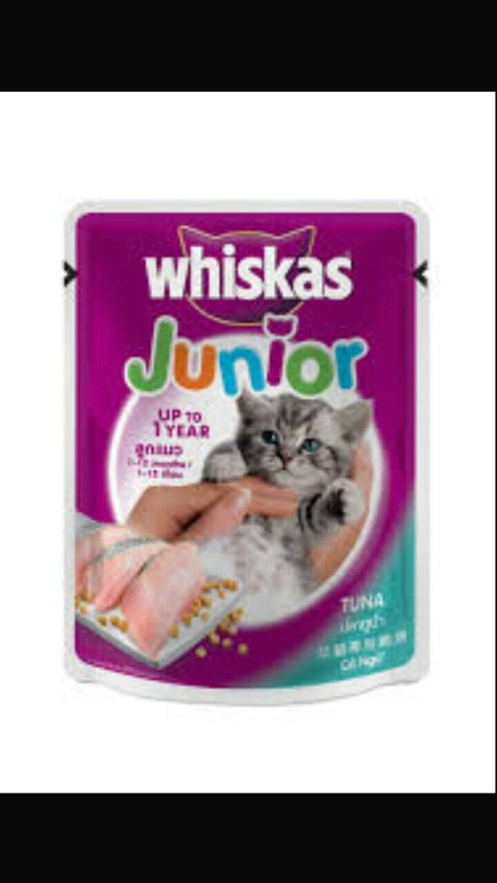Jual Makanan Kucing Sachet Whiskas Junior Rasa Ikan Tuna Jakarta