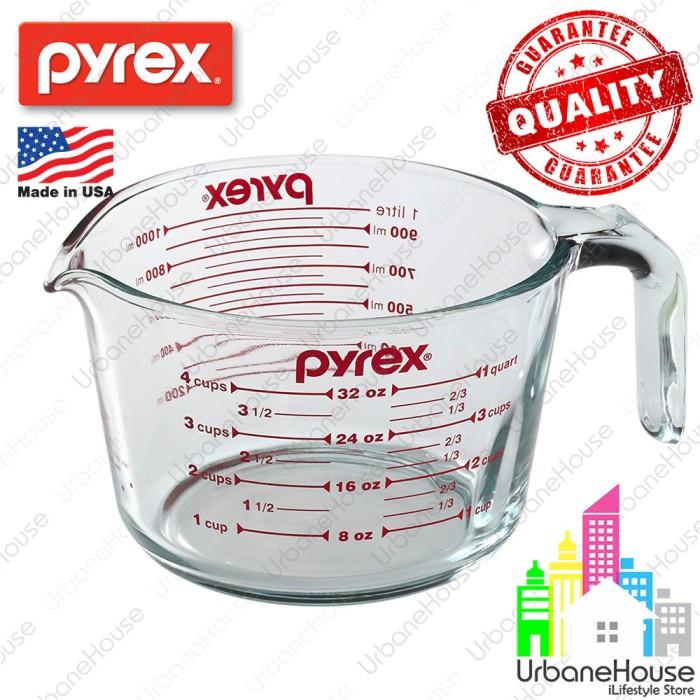 harga Gelas ukur 1lt pyrex usa import tebal dan akurat alat ukur 32oz 4cup Tokopedia.com
