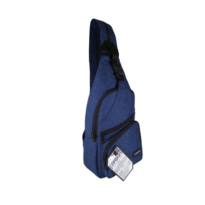 Waistbag tas ransel tali satu merk Carboni kode AA00023-10 Blue
